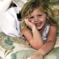 Precocious Young Girl Poses