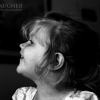 Black and White Child Profile