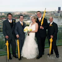 Pittsburgh Skyline Wedding Portrait